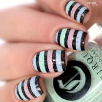 Nail art stripe cirque colors 5