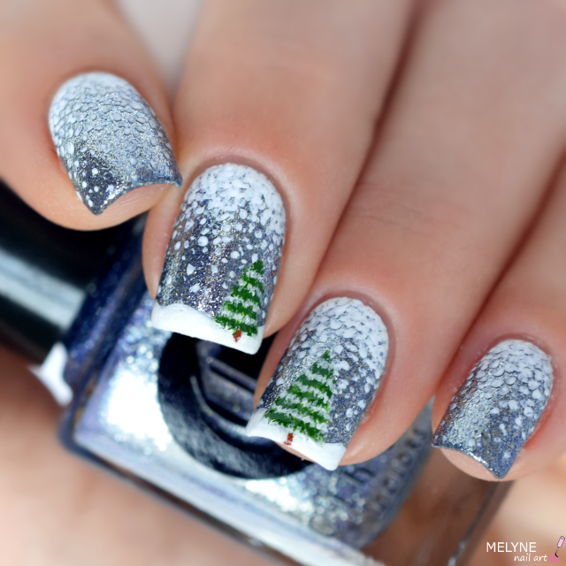 nail-art-hiver-neige-et-sapin-winter-nails