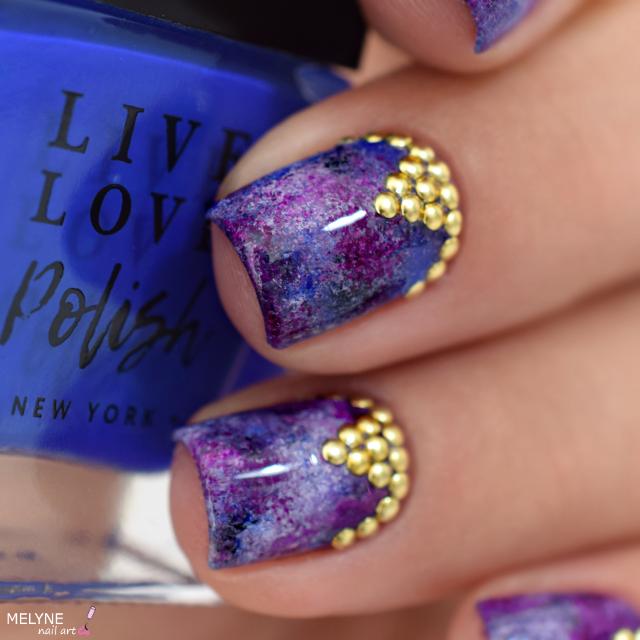 Nail art à l'éponge Bling Bling Live Love Polish 2