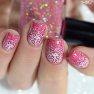 Nail art thermal No Escape by Illimité stamping dégradé 4