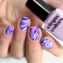 Watermarble nails inratable Cirque Colors 2