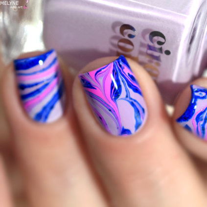 Watermarble nails inratable Cirque Colors 5